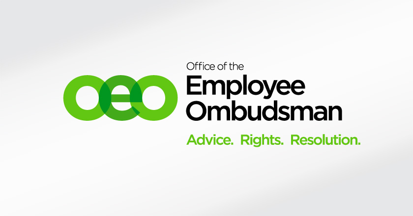Office of the Employee Ombudsman Horizontal Logotype on White