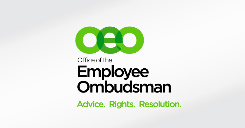 Office of the Employee Ombudsman Portrait Logotype on White