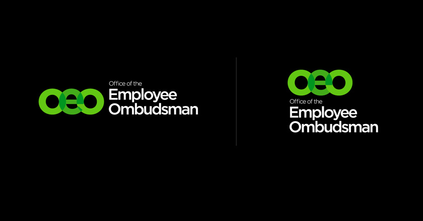 Office of the Employee Ombudsman Corporate Logotypes, Reversed on Black, without Taglines