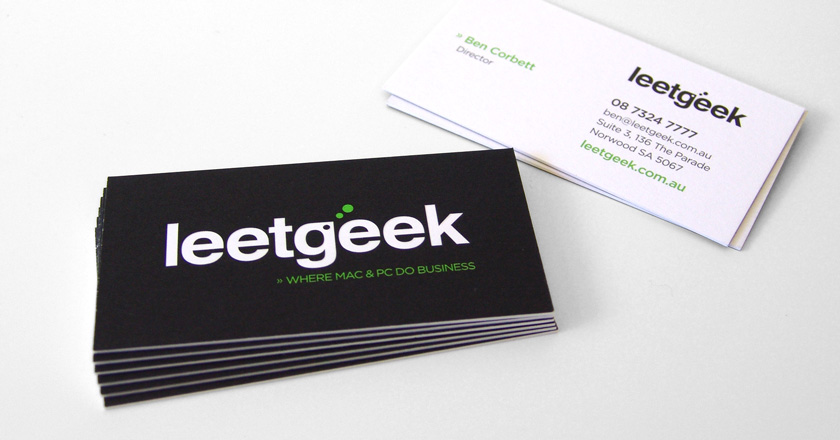 LeetGeek | Business Cards | Beanstalk Creative