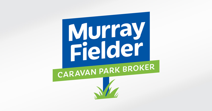Murray Fielder Caravan Park Broker Company Logotype - Primary Logo