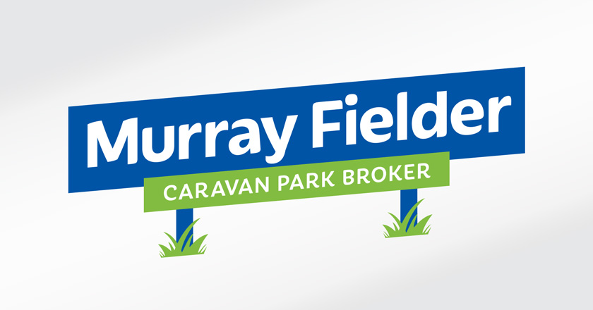 Murray Fielder Caravan Park Broker Company Logotype - Secondary Logo for limited height applications