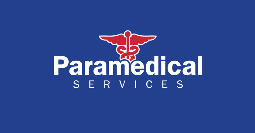 Paramedical Services Corporate Logo, Full Colour on Blue
