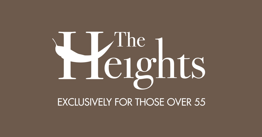 The Heights Retirement Village Corporate Logotype - Reverse Logo with Tagline