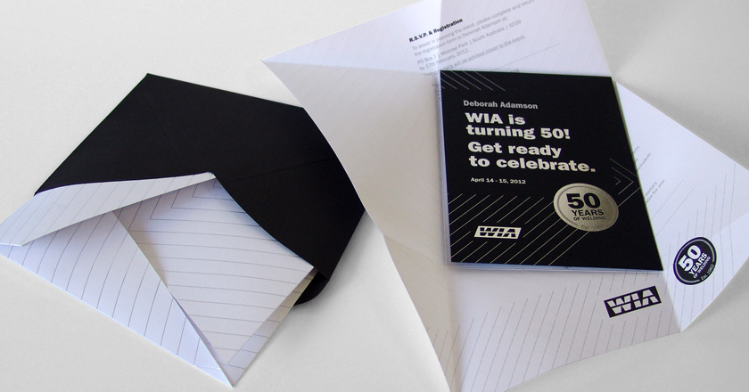 Welding Industries of Australia, 50th Anniversary Invitation Pack