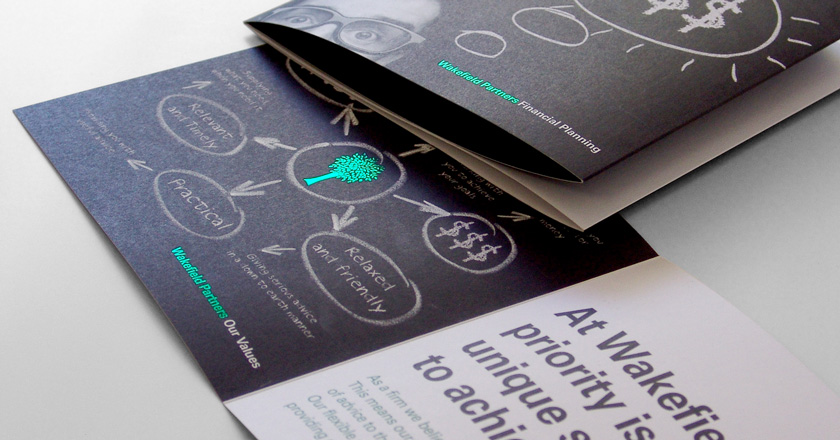 Wakefield Partners, Folding Brochure featuring Golf Foil Highlights