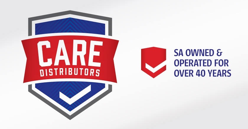 CARE Distributors Company Logotype - Main Logo and 40 Years statement
