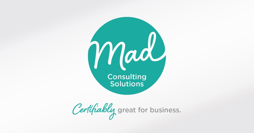 Mad Consulting Solutions Company Logotype - Complete Company Logotype and Tagline, Portrait