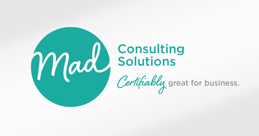 Mad Consulting Solutions Company Logotype - Complete Company Logotype and Tagline, Landscape