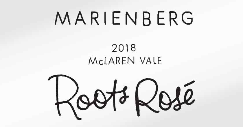 Marienberg Wines Rosé Labelling - Hand Made Typography