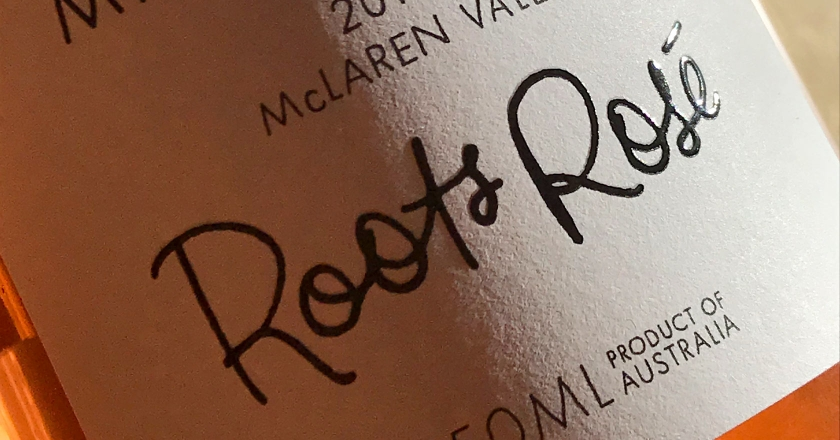Marienberg Wines Rosé Labelling - High Build Varnish on Textured Stock