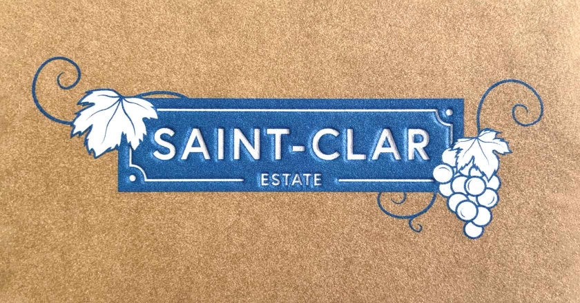 Saint-Clar Estate Company Logotype - As seen on Business Cards