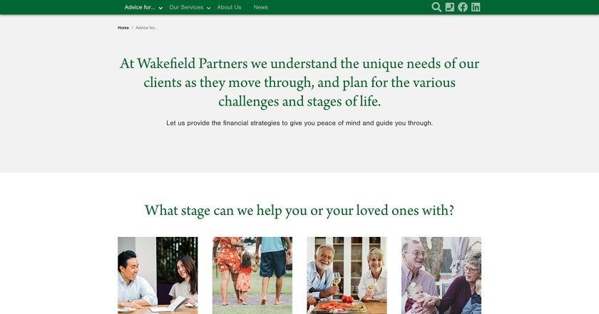 Wakefield Partners - Advice For... Page