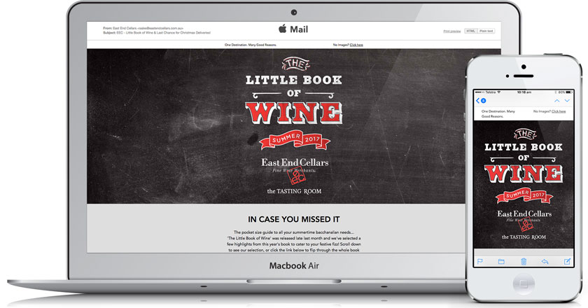 East End Cellars Email Marketing - Fully Responsive Email Campaigns