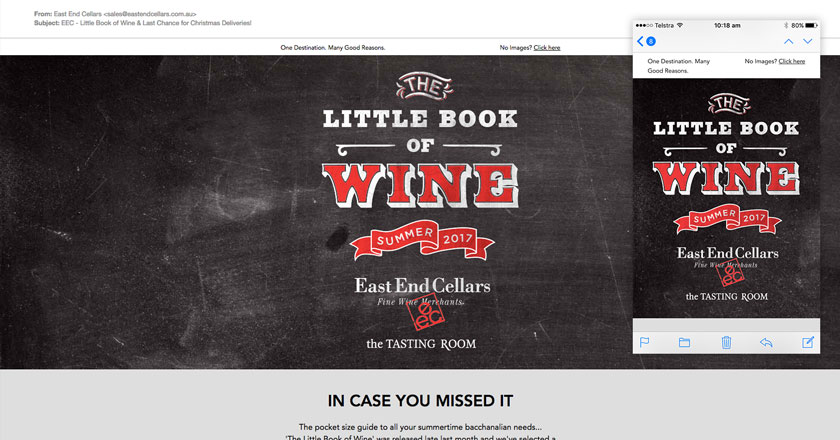 East End Cellars Email Marketing - String Visual Email Header