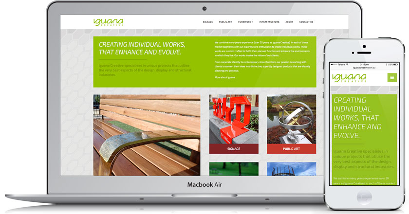 Iguana Creative Website - Home Page