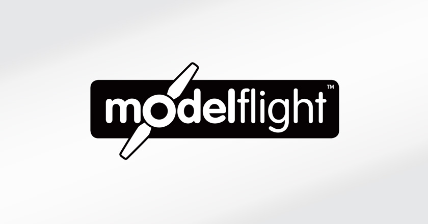 Model Flight Company Logotype - Black & White Logo
