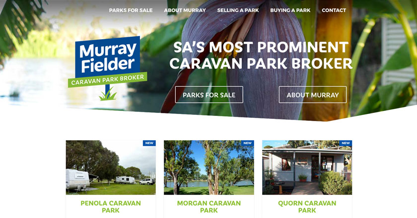Murray Fielder Caravan Park Broker Website - Home Page