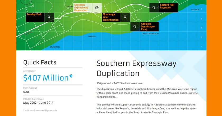 Southern Adelaide EDB Website - Project Detail Page