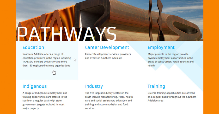 Southern Adelaide EDB Website - Pathways Page