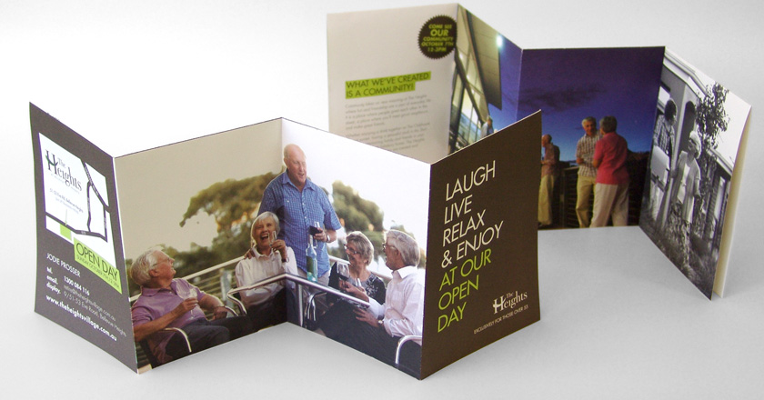 The Heights Retirement Village | Folding Brochure ...