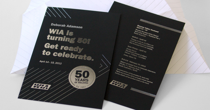 Welding industries of australia 50th anniversary invite welding industries of australia 50th anniversary personalised invitations stopboris