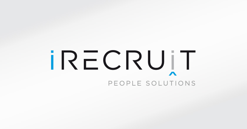 iRecruit People Solutions Company Logotype on White