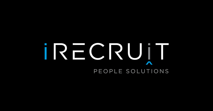 iRecruit People Solutions Company Logotype on Black