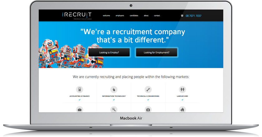 iRecruit People Solutions Website - Home Page
